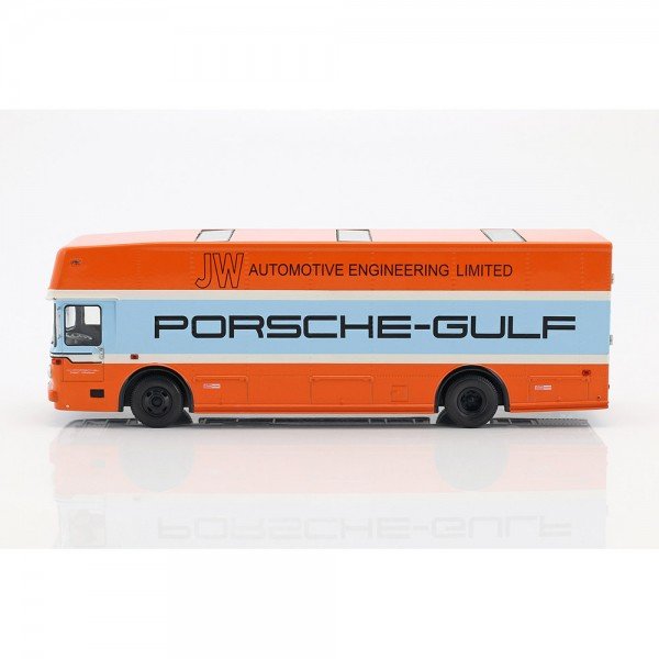Mercedes-Benz O 317 Porsche Gulf race transporter model 1968 1/43 Schuco