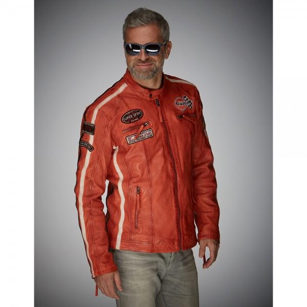 Gulf Leather jacket Racing orange