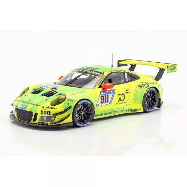 Porsche 911 991 GT3 R #911 24h Nürburgring 2018 Manthey Grello 1:43 Minichamp