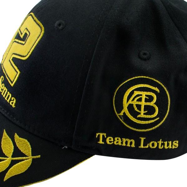 Ayrton Senna Cap JPS Lotus detail 1