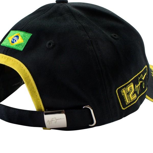 Ayrton Senna Cap JPS Lotus detail 2