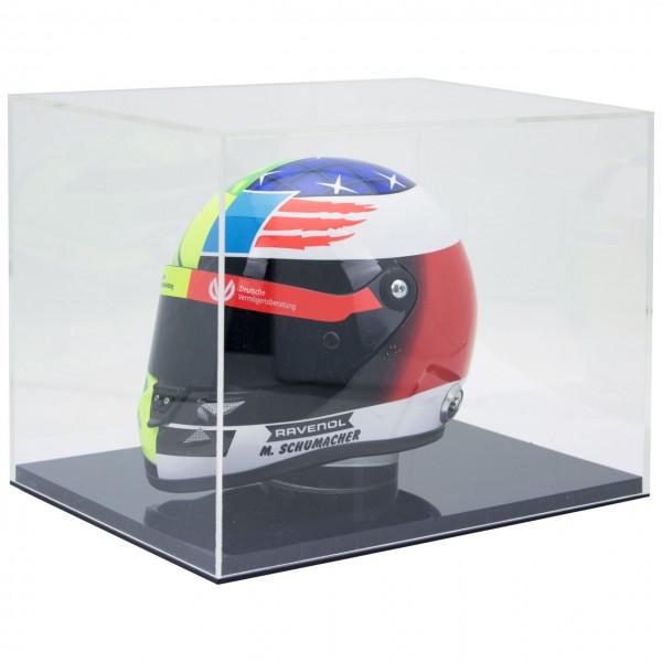 Casco miniatura Mick Schumacher Bélgica Spa 2017 1/2