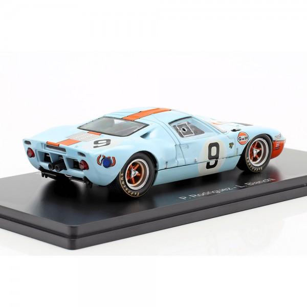Rodriguez, Bianchi Ford GT 40 Gulf #9 winner 24h LeMans 1968 1:43