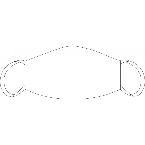 Neutrale Mund-Nasen Maske weiß