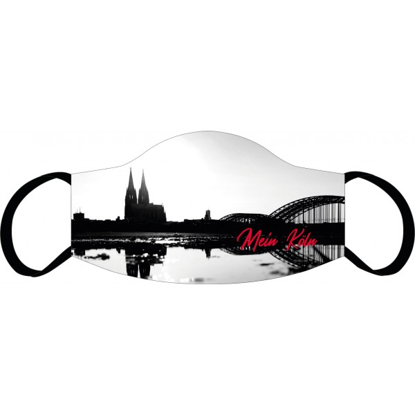 Mund-Nasen Maske Köln Skyline