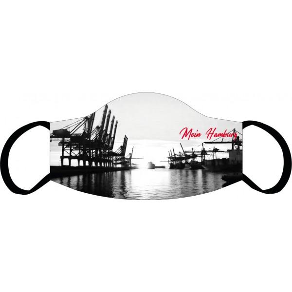 Mund-Nasen Maske Hamburg Skyline