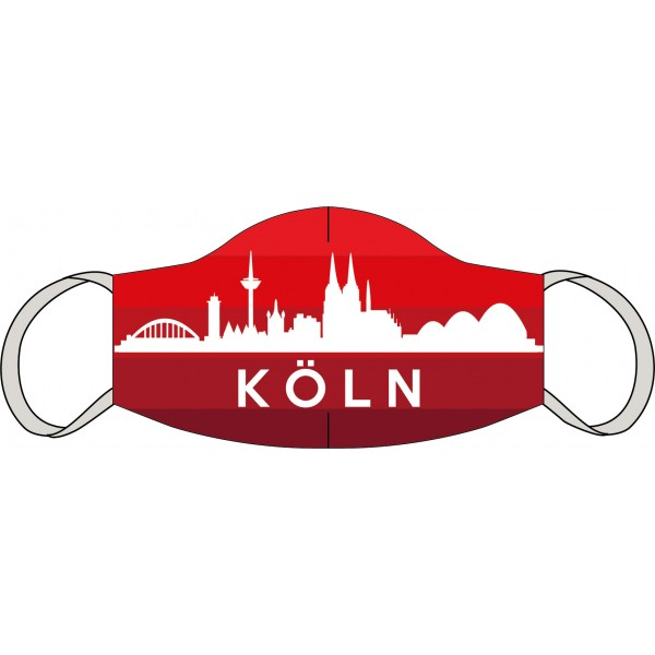 Masque buccal et nasal Cologne skyline red