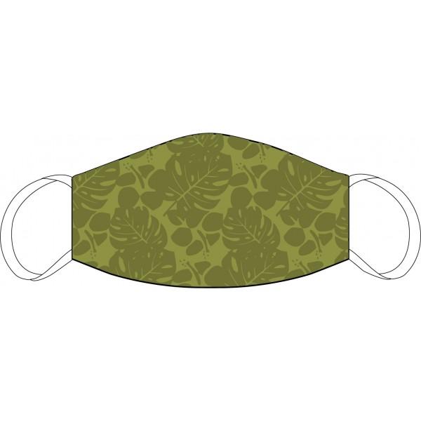 Máscara de Boca y Nariz Verde floral