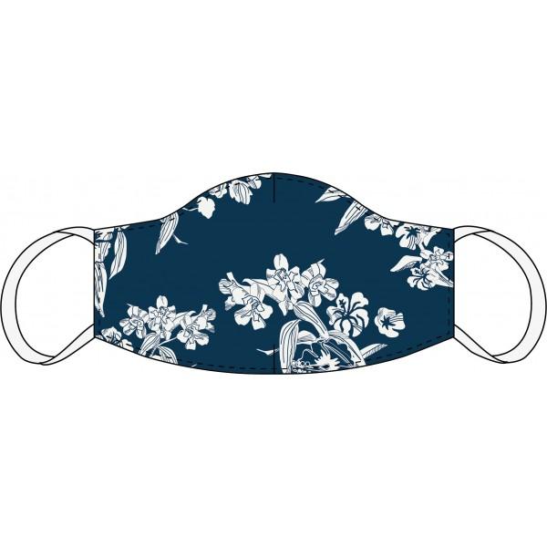 Masque buccal et nasal Floral bleu foncé