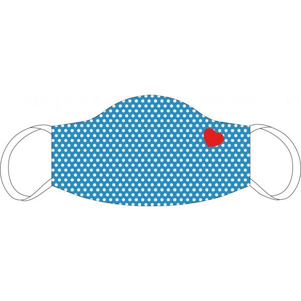 Mund-Nasen Maske Pünktchen mit Herz