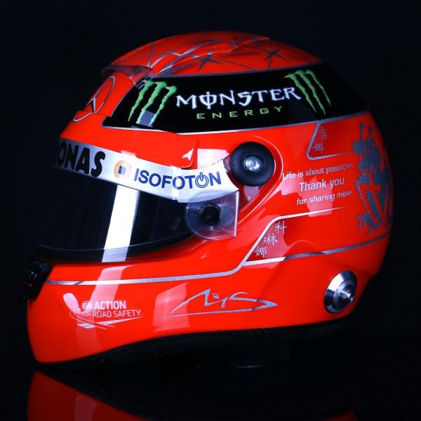 Michael Schumacher replica casco 1:1 Final 2012