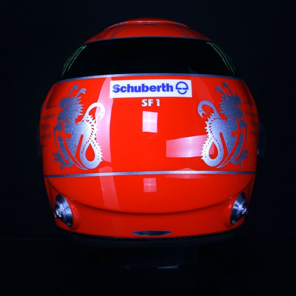 Réplica de casco Michael Schumacher 1:1 Final 2012