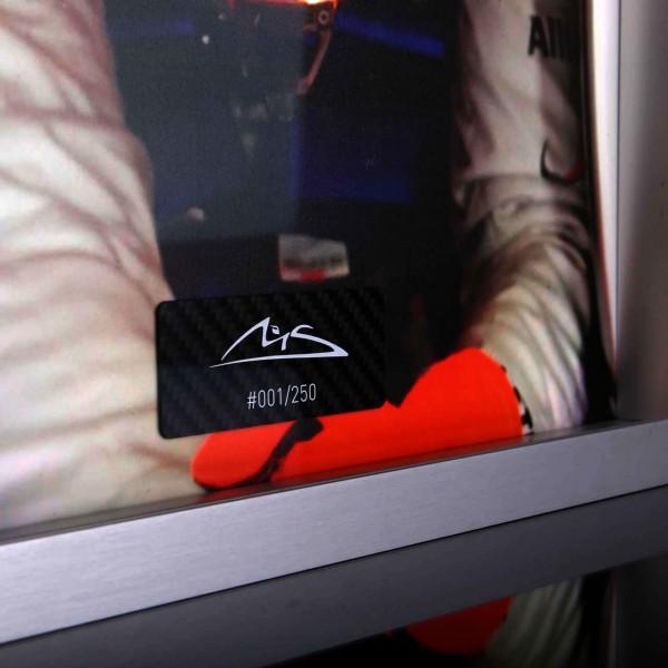 Michael Schumacher photo avec casque en carbone peint à la main 2012