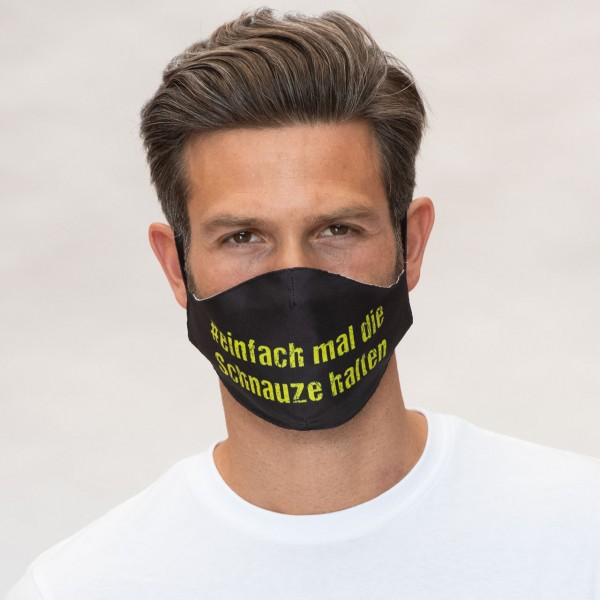 Mund-Nasen Maske Slogan