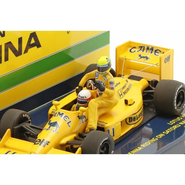 Ayrton Senna riding on S. Nakajimas Lotus 99T #11 Italien GP F1 1987 1/43