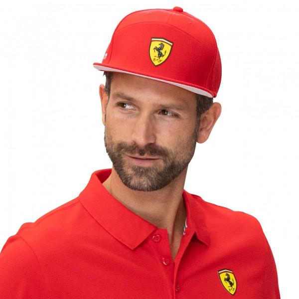 Scuderia Ferrari Casquette Ferrari à bord plat rouge