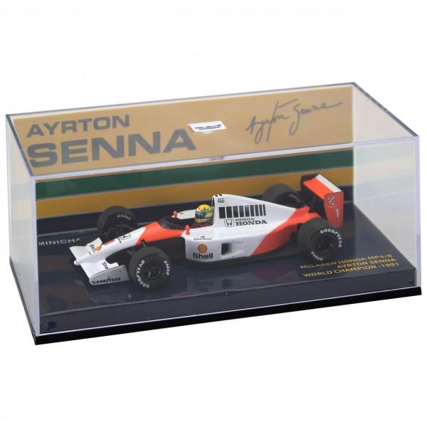 Ayrton Senna Minichamps McLaren Honda MP4/6 1991 1:43 box