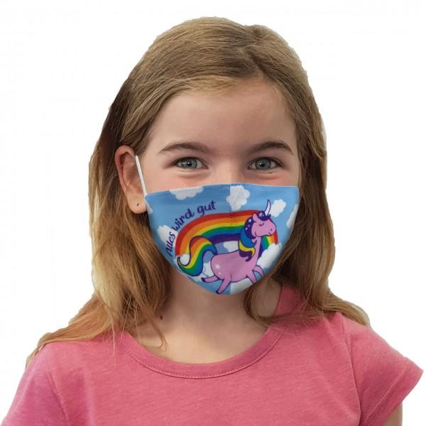 Mund-Nasen Maske Regenbogen