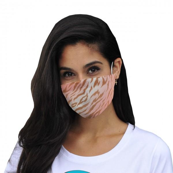 Masque buccal et nasal zébré