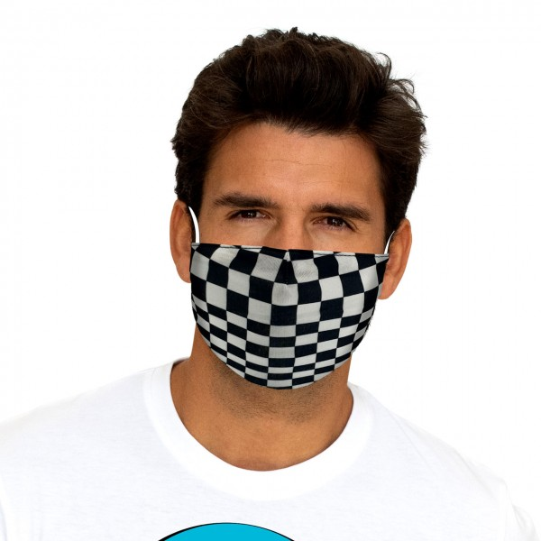 Chequered Flag Double Layer Mask
