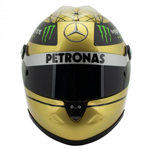 Michael Schumacher Spa 2011 gold helmet 1/2