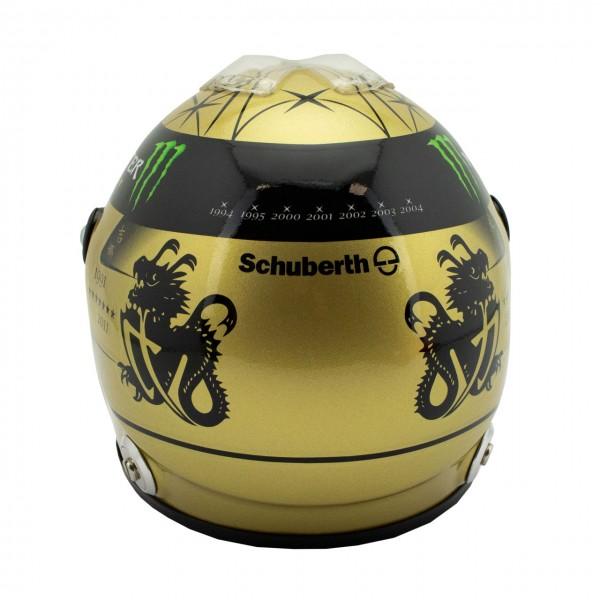 Casco d'oro Michael Schumacher Spa 2011 1/2