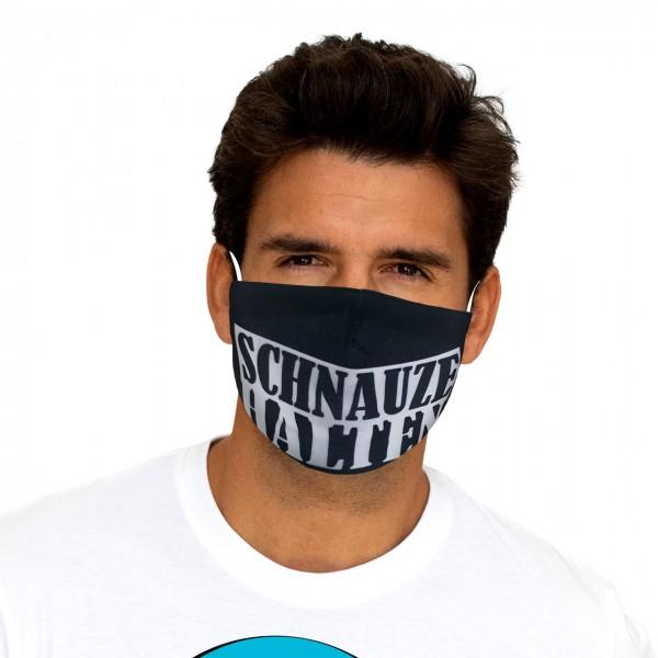 Mund-Nasen Maske Schnauze halten