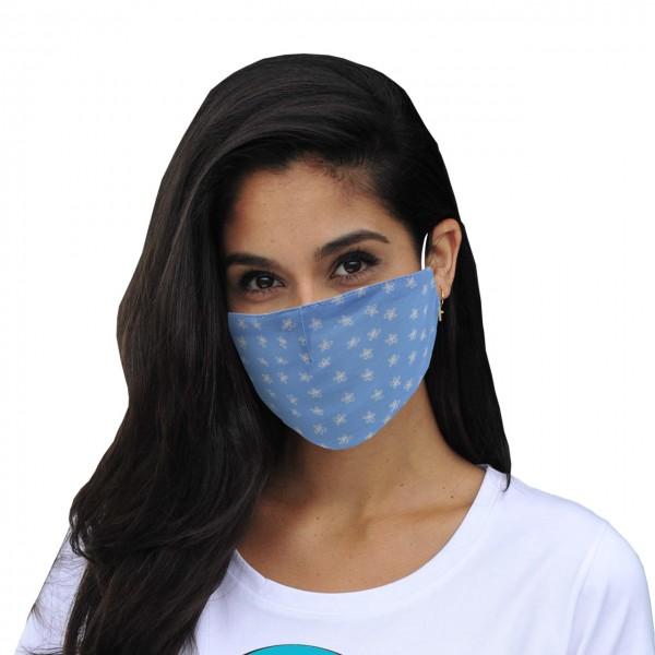 Mund-Nasen Maske Blümchen