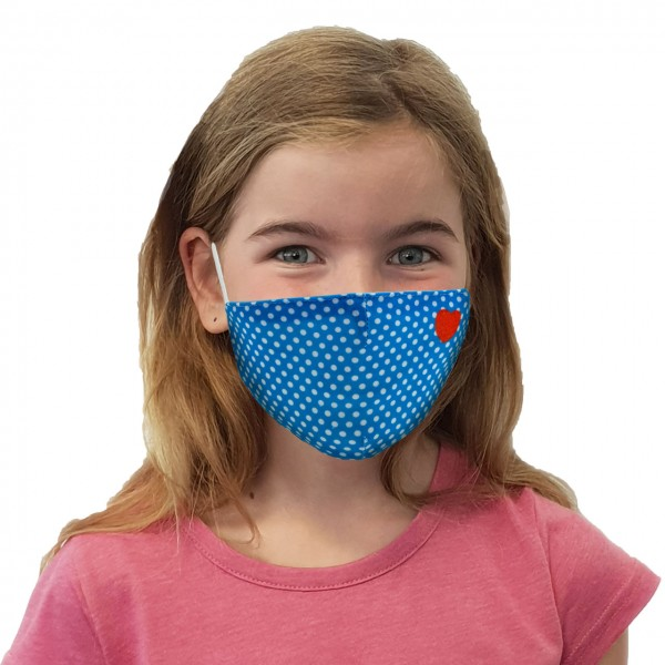 Mouth and nose mask Dots with heart
