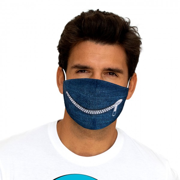 Mouth and nose mask Denim Zip