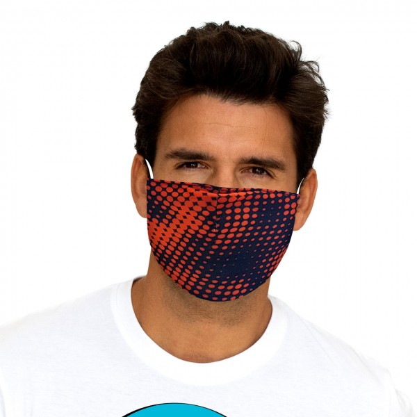 Maschera bocca e naso Tech orange