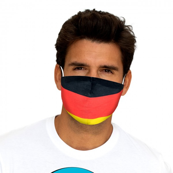 Mouth and nose mask Germany flag