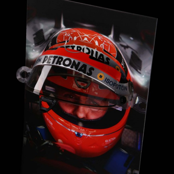Michael Schumacher visor de pared con visor de casco original 2012 edición final