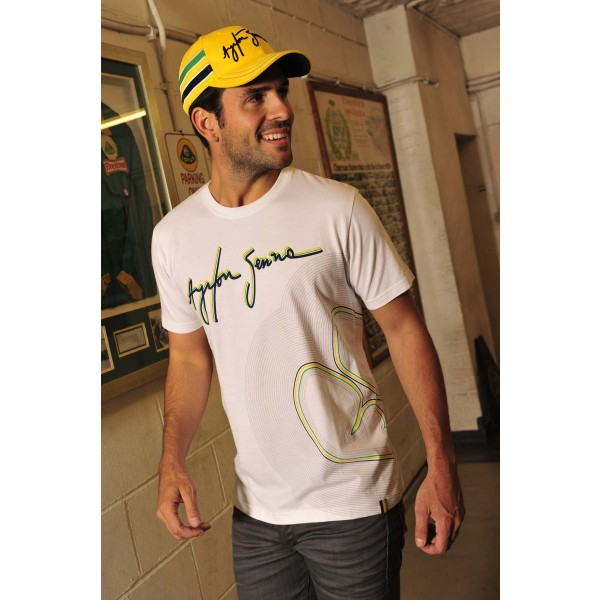 Ayrton Senna T-Shirt Interlagos Tracklines model