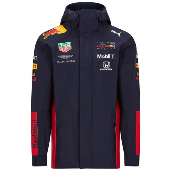Red Bull Racing Team sponsor rain jacket navy blue