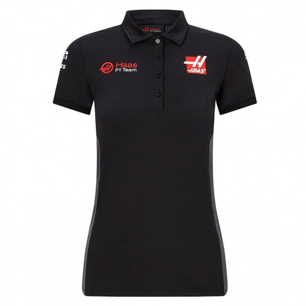 Haas F1 Team Poloshirt Sponsors ladies