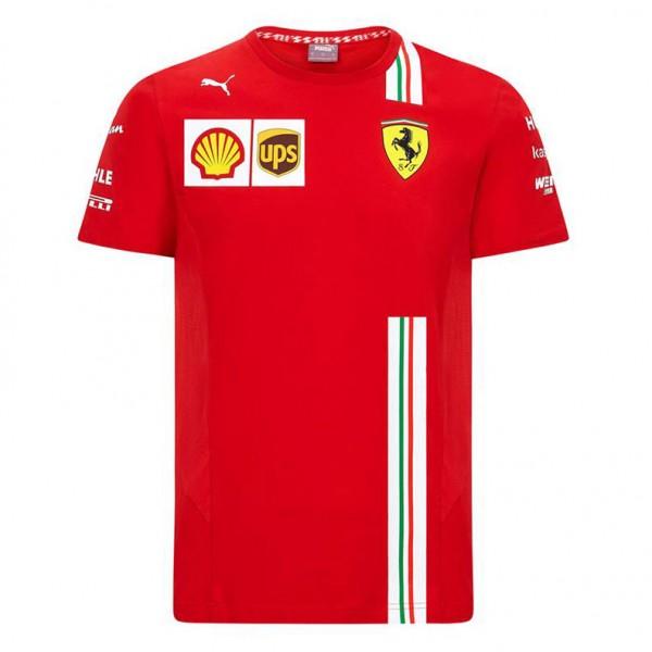 Ferrari Scuderia F1 T-shirt pour homme Noir//rouge Taille S