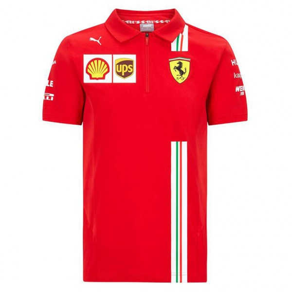 Scuderia Ferrari Men Team Polo Shirt red