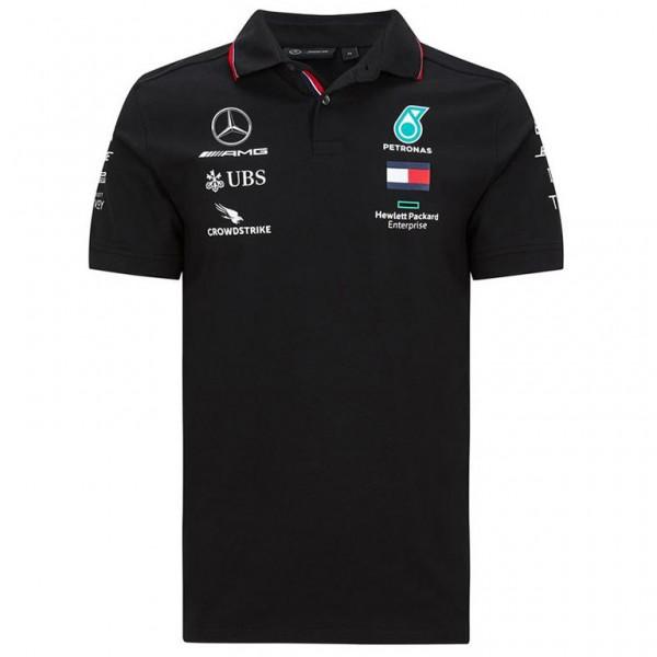 Mercedes-AMG Petronas Team Sponsor Poloshirt black