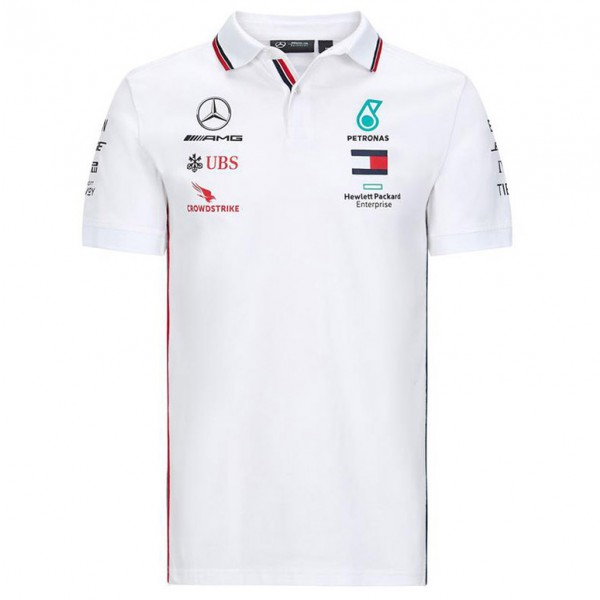 Mercedes-AMG Petronas Team Sponsor Poloshirt white
