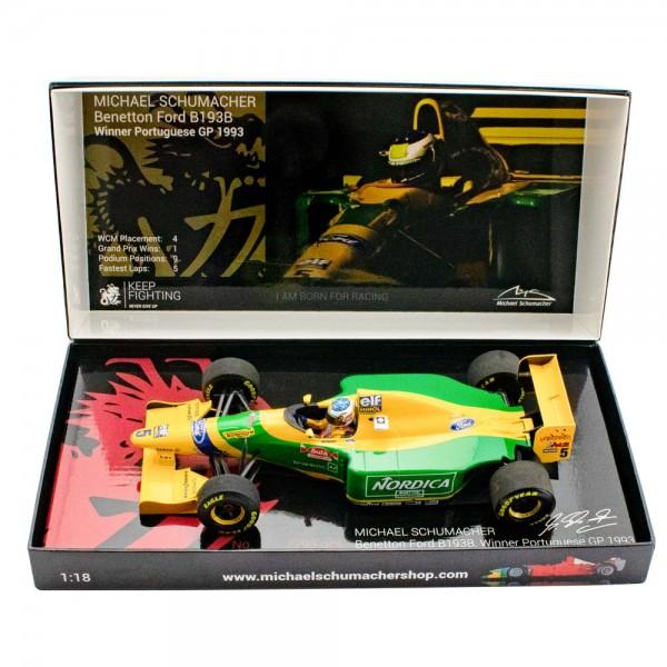 Michael Schumacher Benetton Ford B193B Ganador del GP de Portugal 1993 1/18