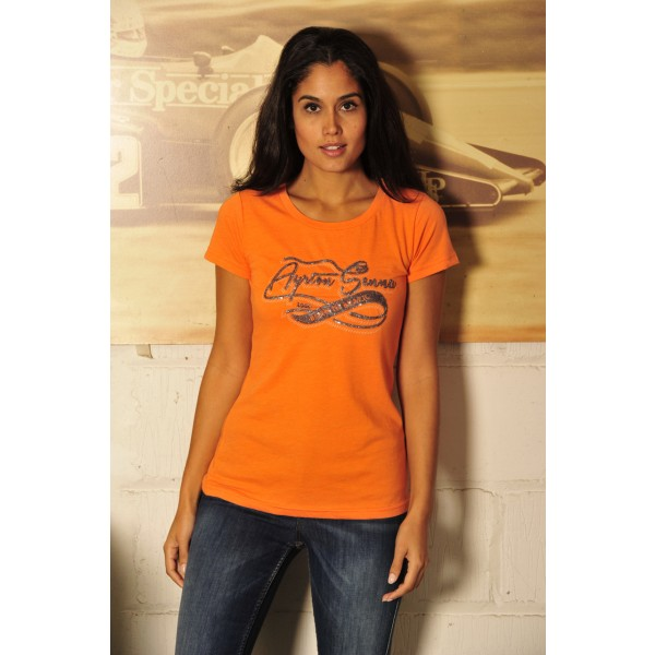 Ayrton Senna T-Shirt Ladies Born in Brasil Model
