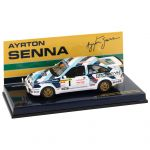 Ayrton Senna Ford Sierra RS Cosworth #1 Voiture d'essai Rallye 1986 1/43