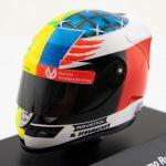 Mick Schumacher Casque miniature Belgique GP 2017 1/8
