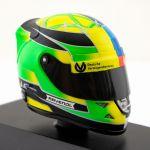 Casco miniatura Mick Schumacher Bélgica GP 2017 1/8