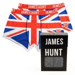 James Hunt Boxer shorts Union Jack Double Pack