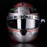 Michael Schumacher Réplica de Casco platino 1/1 Spa 300 GP 2012