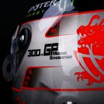 Michael Schumacher Replika Platin-Helm 1:1 Spa 300th GP 2012