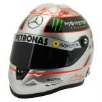 Michael Schumacher Casque Platinum Spa 300e GP 2012 1/2