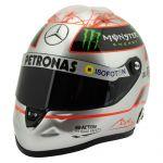 Michael Schumacher Casque Platinum Spa 300e GP 2012 1/2